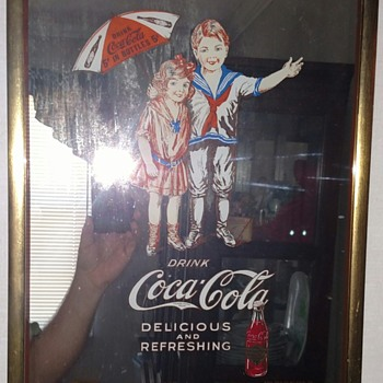 Mirror with 1917 on bottom - Coca-Cola