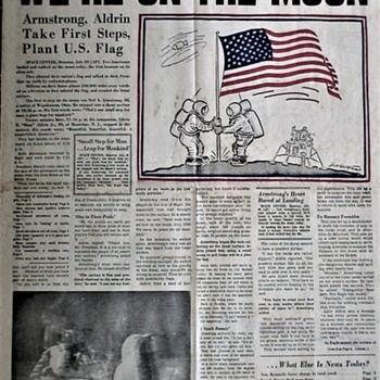 Apollo 11 Moon Landing July 20, 1969 Pittsburgh Post-Gazette - Paper