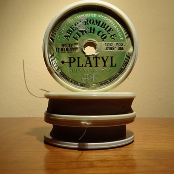 VINTAGE FISHING LINE SPOOL -ABERCROMBIE & FITCH CO. NEW YORK - Fishing