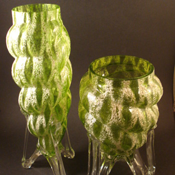 My Meteor Vase pair - Art Glass
