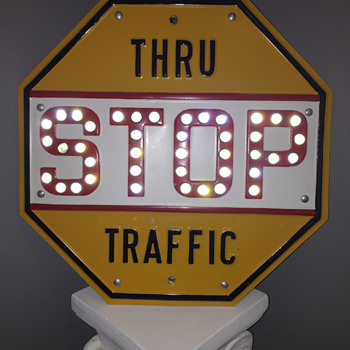 1930s/40s STOP sign (Thru Traffic) - Signs