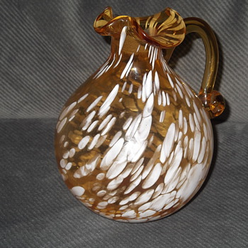 Spatter Glass Pitcher(Pilgrim Glass?)