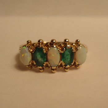 Emerald-Opal Ring - Fine Jewelry