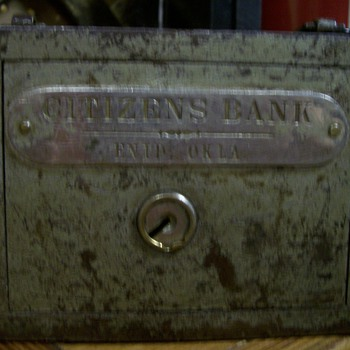 Early 1900's Steel Bank / Deposot Box - Coin Operated