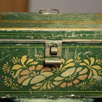 Painted, Domed Tin Document Box - Furniture