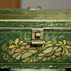 Painted, Domed Tin Document Box