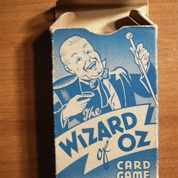 "THE WIZARD OF OZ"" BOXED CARD GAME from 1939"