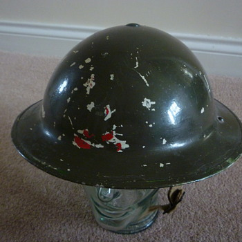 WW11 British Navy steel helmet.