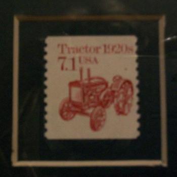 John Deere D stamp - Stamps