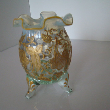 Gold painted egg-shape vase