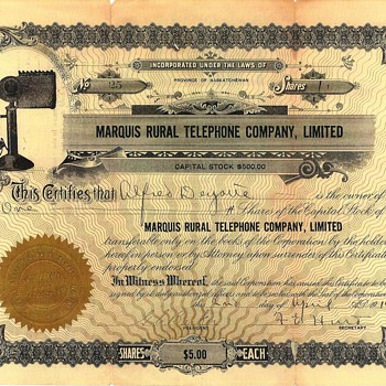 1914 Stock Certificate