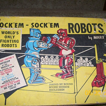 1964 0r 66 Marx Rock'em Sock'em Robots Box  - Toys