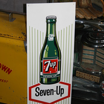 7up tin sign - Signs