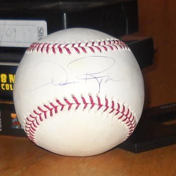 Dan Pasqua signed baseball