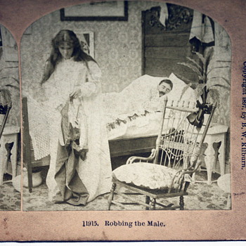 """Robbing the Male"" Stereoscopic Photo (c.1897) - Photographs"