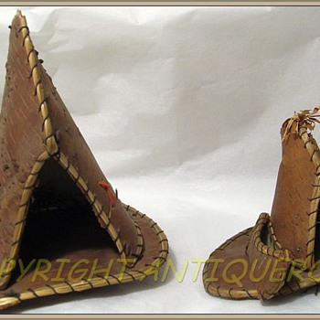 Birch Bark - MINI Tee Pees - Souvenier // Toy // Native Craft - Advertising