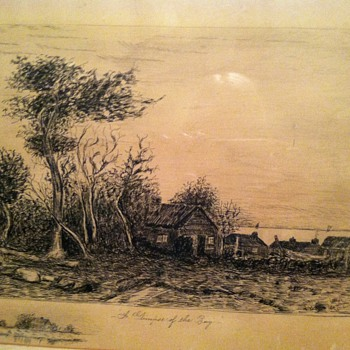 Old etching