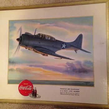 1943 Airplane Coca-Cola Wall Hangers (cardboard) - Coca-Cola