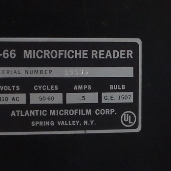 F-66 microfiche reader atlanic