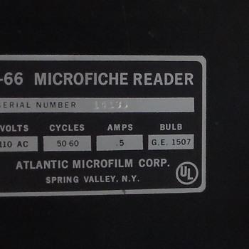F-66 microfiche reader atlanic