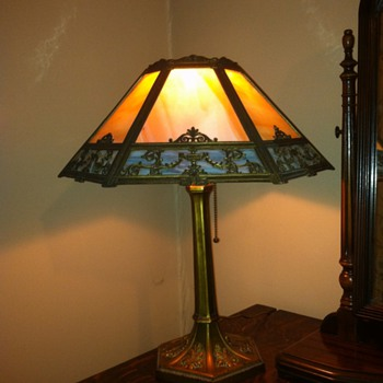 Slag Glass Lamp - 824 - Lamps