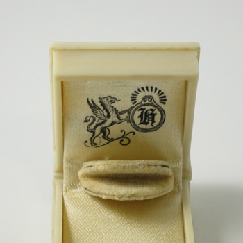 ivory book ring box with griffin
