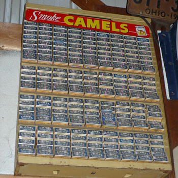 winston cigarette display