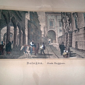 Colored Lithograph J. Hakewill Drawings JMW Turner Bologna Strada Maggiore Worth Repairing?  - Visual Art
