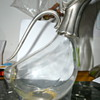 Glass and metal &quot;duck&quot; pitcher