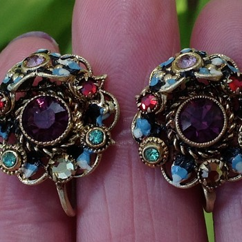 Antique/Vintage Austro - Hungarian Earrings? - Costume Jewelry
