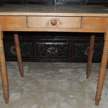 "Mixed Hardwood Table - 22"" x 36"""