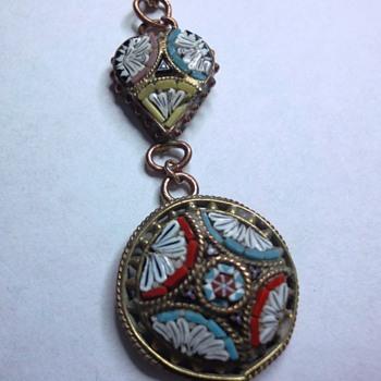 Micro Mosaic pendant  - Fine Jewelry