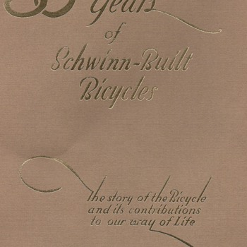 50 Years of Schwinn-Built Bicycles 1895-1945 - Books