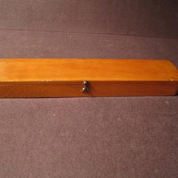 Vintage Wooden Instrument Box..Ruler ??