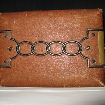 OLD LEATHER PHOTO ALBUM  - Photographs
