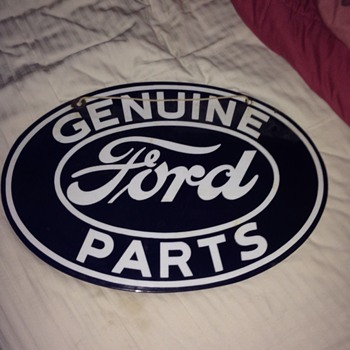 1930s Genuine Ford Parts sign