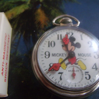 1974 Bradley Mickey Mouse Pocket Watch - Pocket Watches