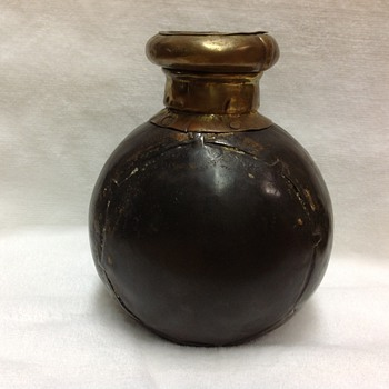 Handmade antique metal flask?
