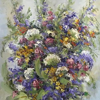 Nice looking flower painting. - Visual Art