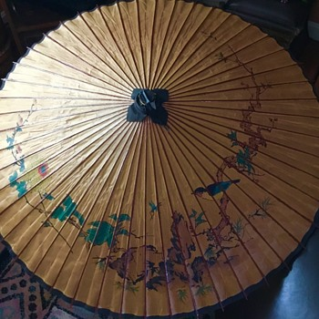 Beautiful Asian Unbrella's from the attic.