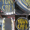 Vintage 1940's TOWN CAFE Antique Neon Sign Two Sided