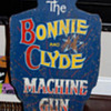 Hand Painted Bonnie & Clyde Shooting Gallery Carnival Game Sign