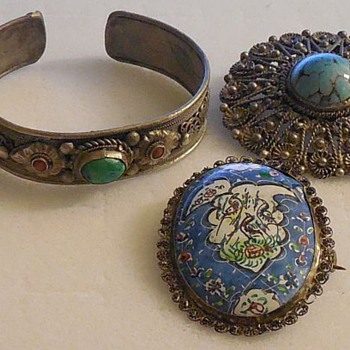 HELP! Is this pin by Picasso, Monet, Chagall? Hand painted... Also more jewelry! - Fine Jewelry