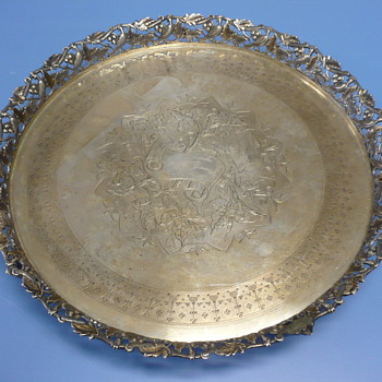UNKNOWN SILVER TRAY?? NEED HELP!! PLEASE VIEW!! - Sterling Silver
