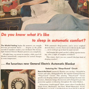 1951 - General Electric Heated Blankets Advertisement - Advertising