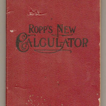 1906 - Ropp's New Calculator (Book) - Books