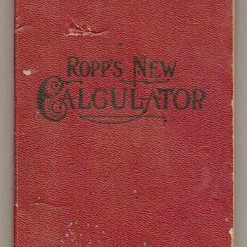 1906 - Ropp's New Calculator (Book) - Books