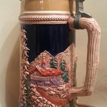 German Beer Steins and Lighter