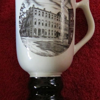 Hall China tri-state East Liverpool Ohio pottery festival 1974 mug - Art Pottery