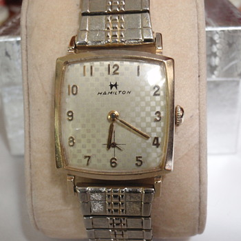 "1963 Hamilton ""Scott"" 10K 17 Jewel, checkered dial"